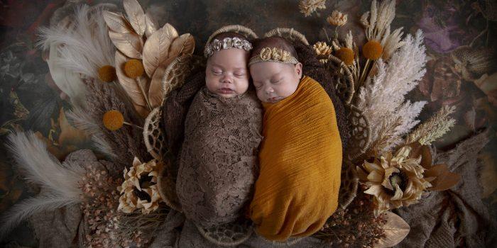 Newborn Studio Shoot ~ Madeleine & Florence
